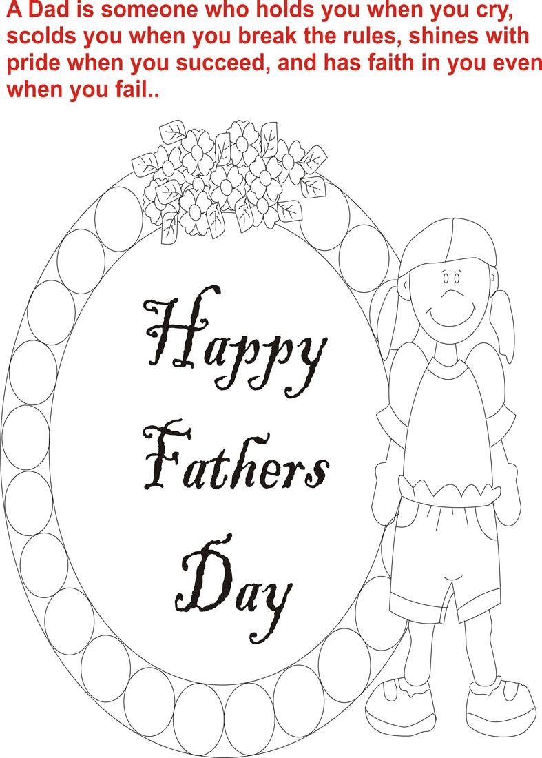 Fathers day coloring page for kids 4