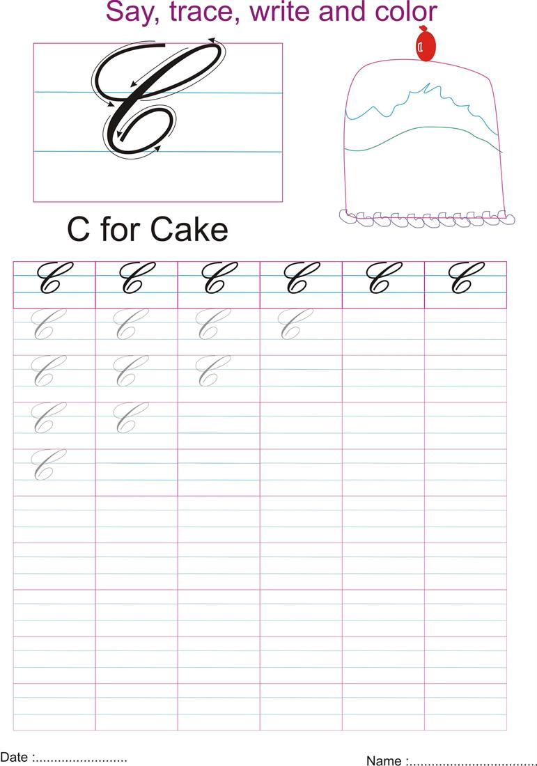 cursive captial letter 39 c 39 worksheet. Black Bedroom Furniture Sets. Home Design Ideas