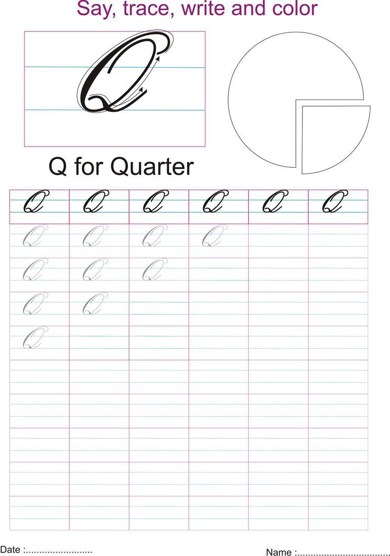 cursive captial letter 39 q 39 worksheet. Black Bedroom Furniture Sets. Home Design Ideas