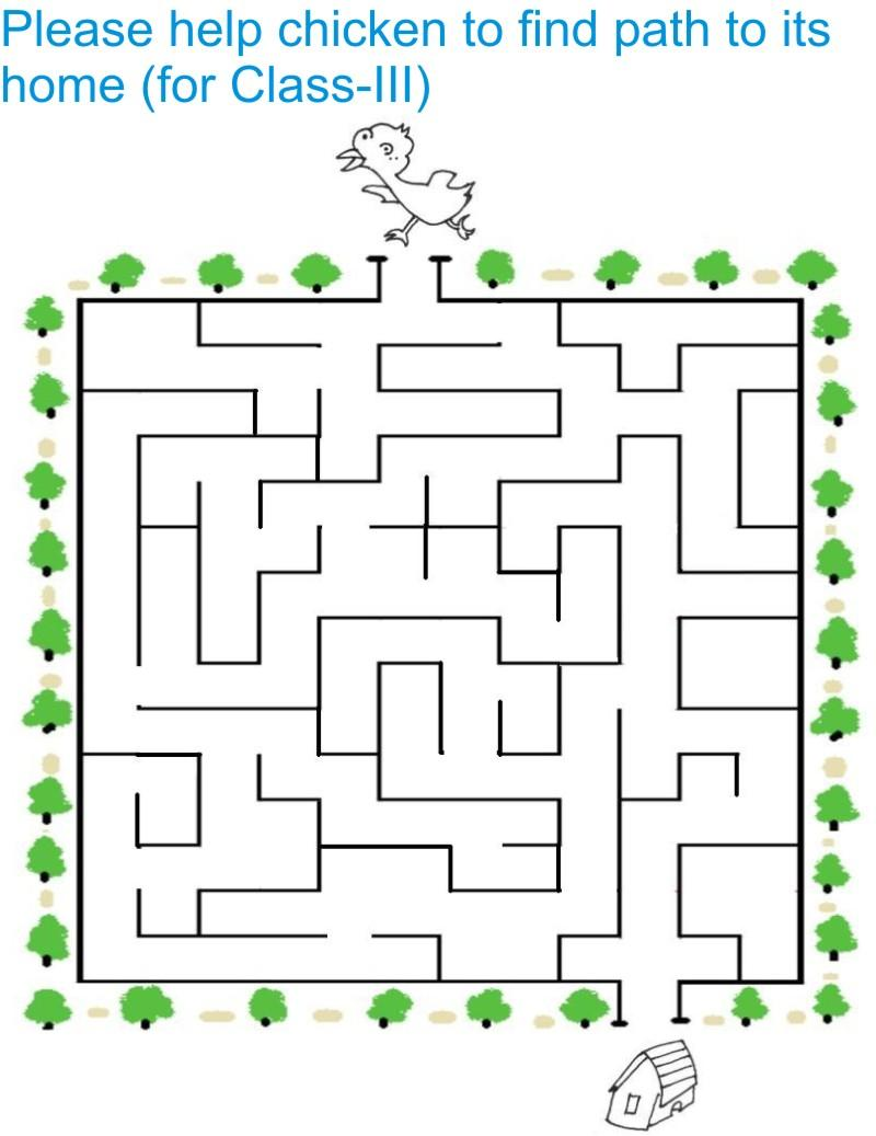 Maze for Class - III students