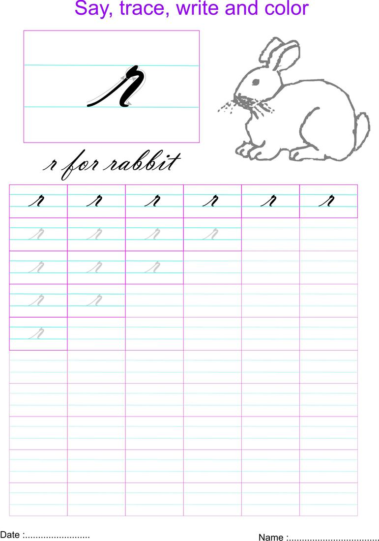 cursive small letter 39 r 39 worksheet. Black Bedroom Furniture Sets. Home Design Ideas
