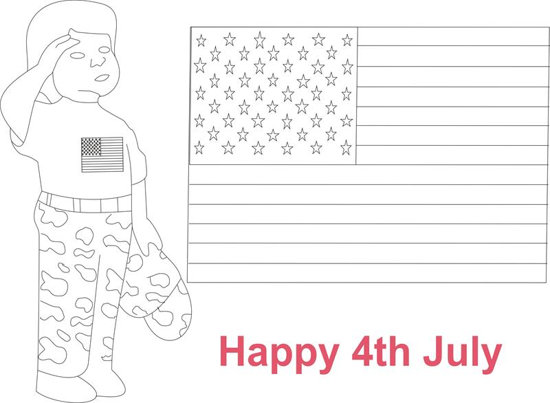 July 4th printable coloring page for kids 3