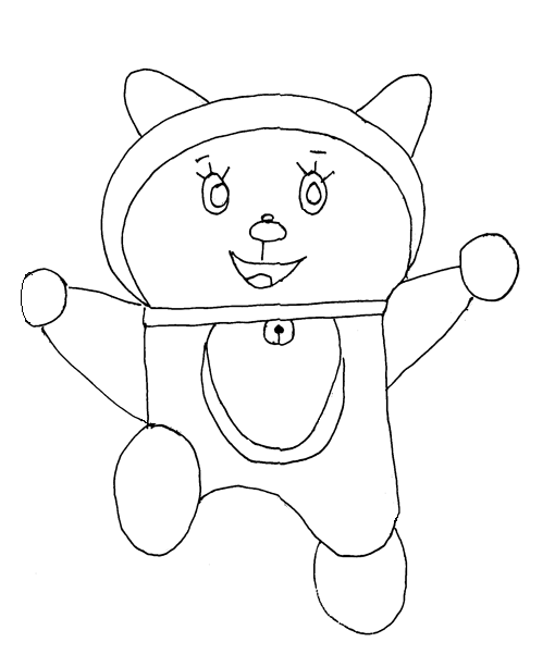 Doraemon printable coloring page for kids 3