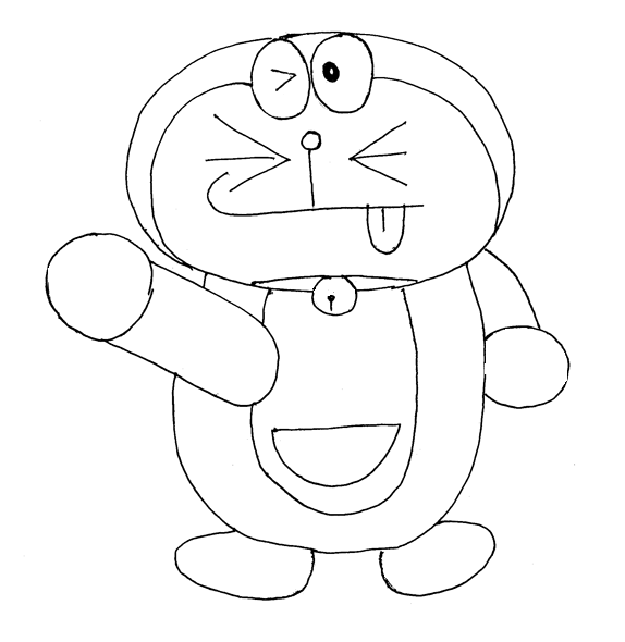 Doraemon printable coloring page for kids 4