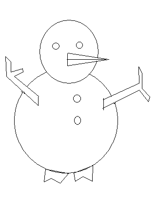 step 12 to make a snow man