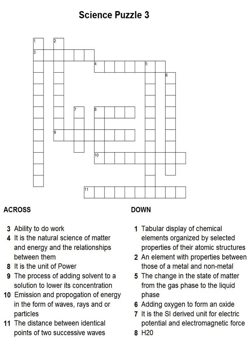 Science Puzzle 3