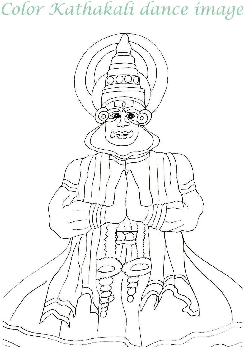 Onam printable coloring page for kids 3