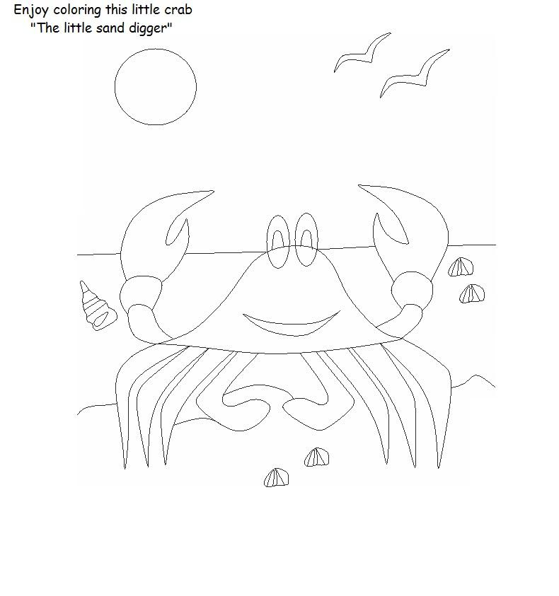 picture regarding Crab Printable called Crab printable coloring website page for youngsters
