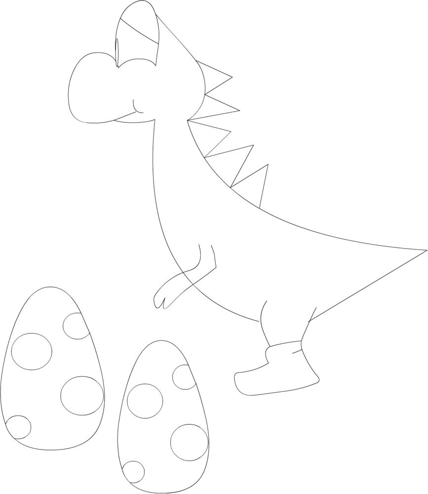 Yoshi coloring printable page for kids