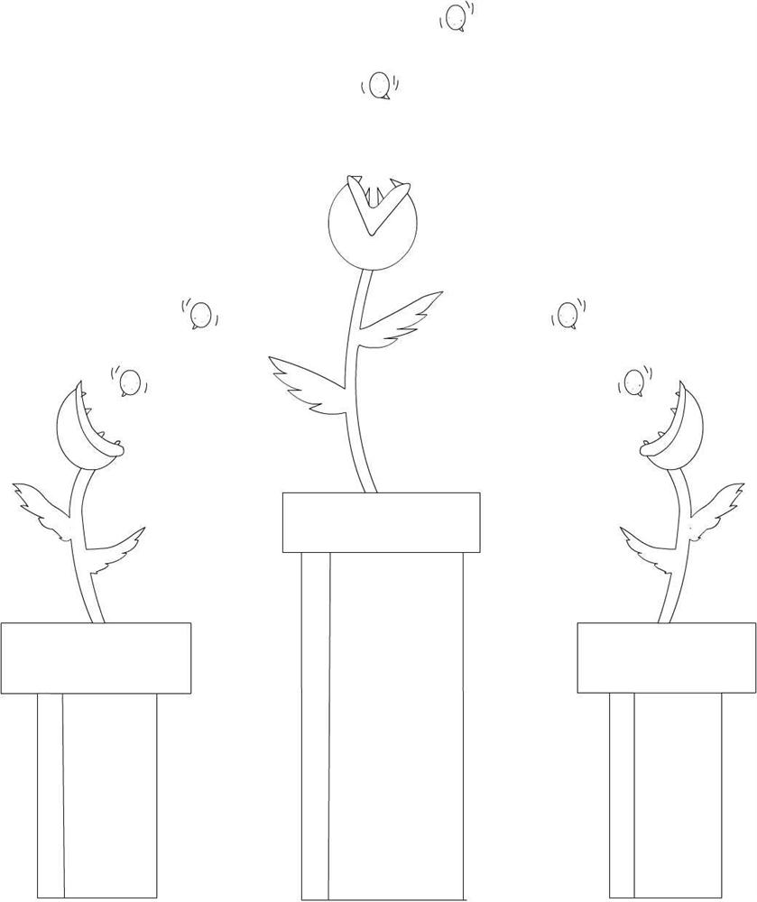 Mario plant coloring printable page for kids