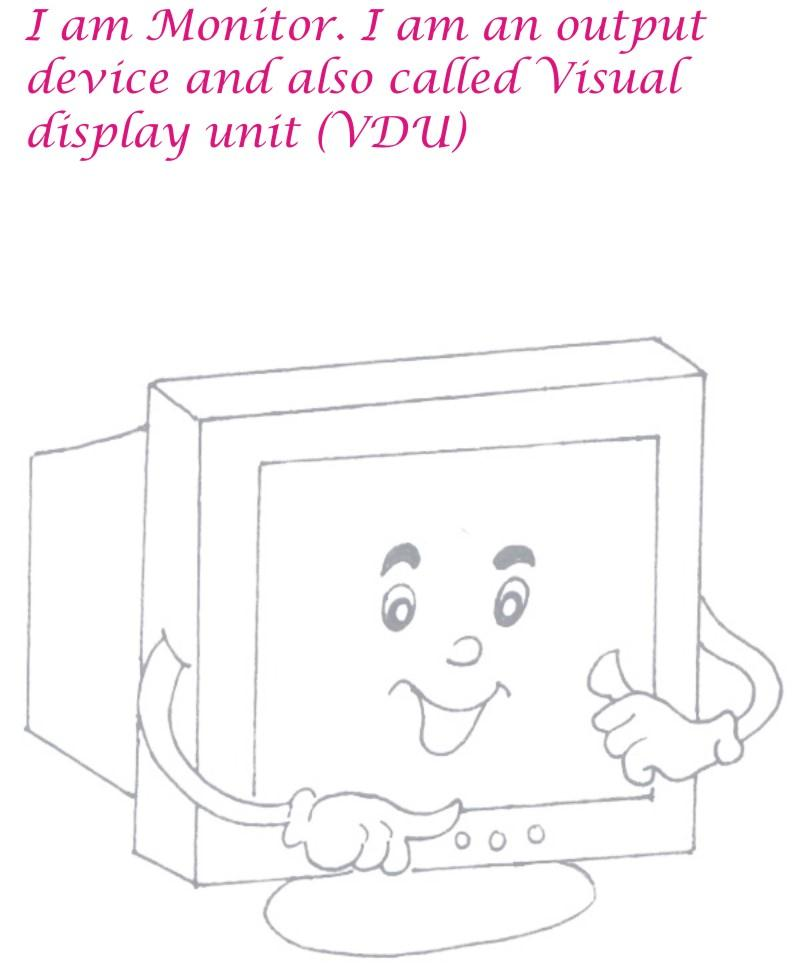 Monitor coloring page printable