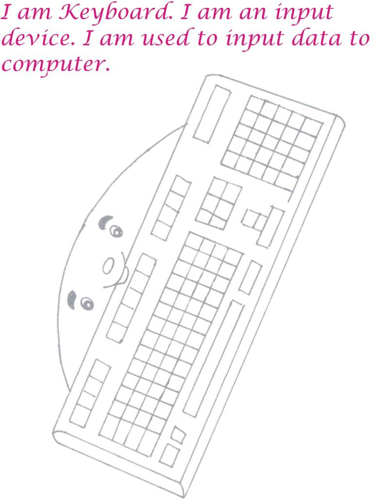 keyboard coloring page printable