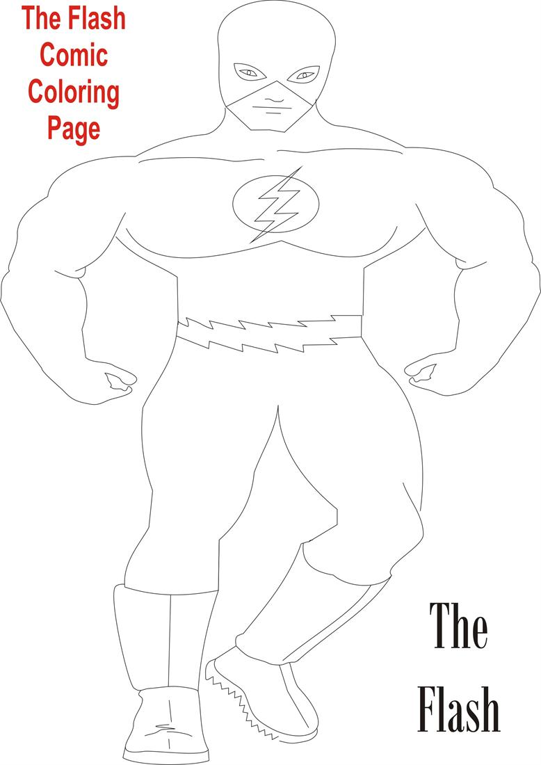 color Superhero The Flash Coloring Pages for kids   Superhero ...   1100x778