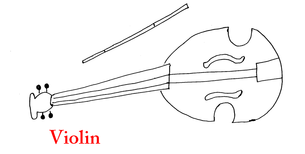 coloring page of Violin