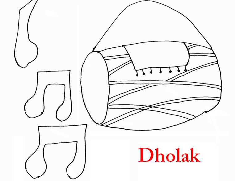 dholak coloring page printable. Black Bedroom Furniture Sets. Home Design Ideas