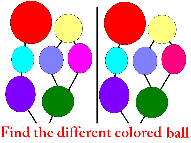 Different colored ball