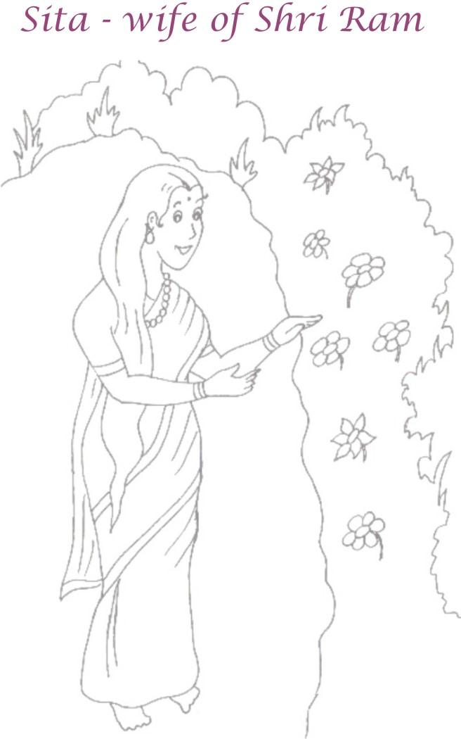 Maa Sita coloring page