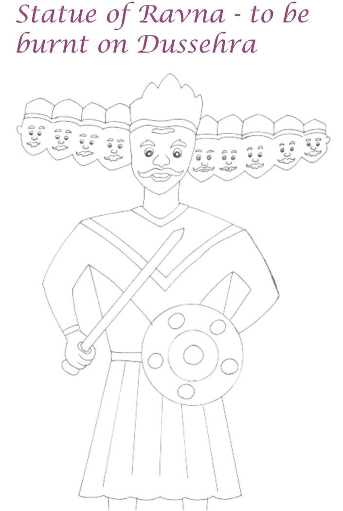 Dussehra The Vijayadashmi Festival Coloring Pages