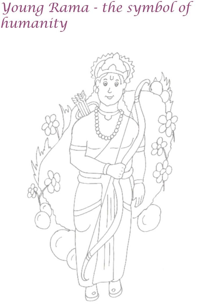 Young Rama coloring page