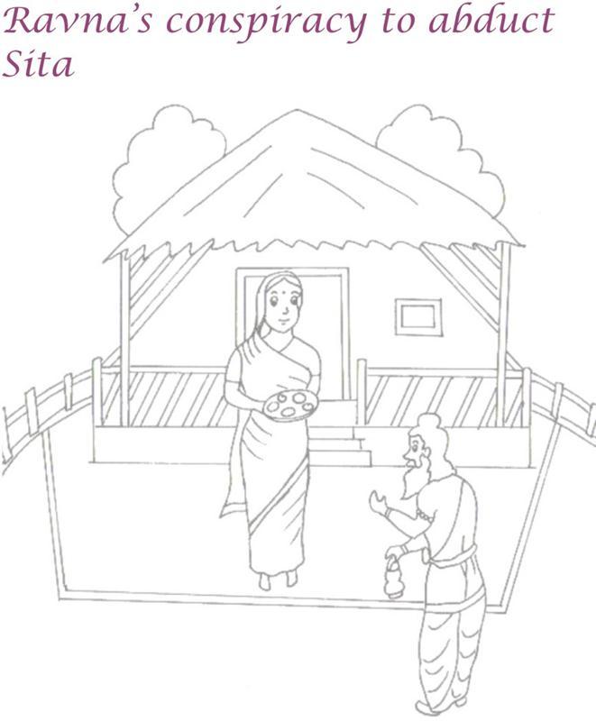 sita haran coloring page for kids