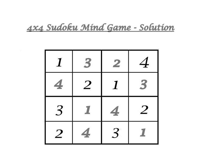 Fabulous image intended for 4x4 sudoku printable