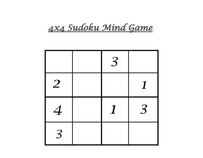 picture regarding 4x4 Sudoku Printable identify 4x4 Sudoku 5