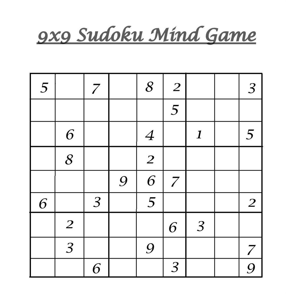 photograph regarding Sudoku Printable Pdf known as 9x9 Sudoku 6