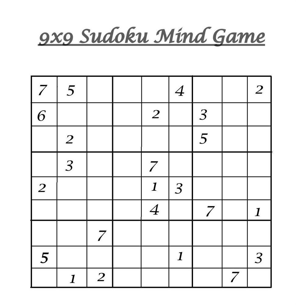 picture regarding Sudoku Printable 4 Per Page identified as 9x9 Sudoku 9