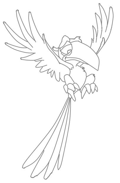 Zazu Lion King Character Coloring Page