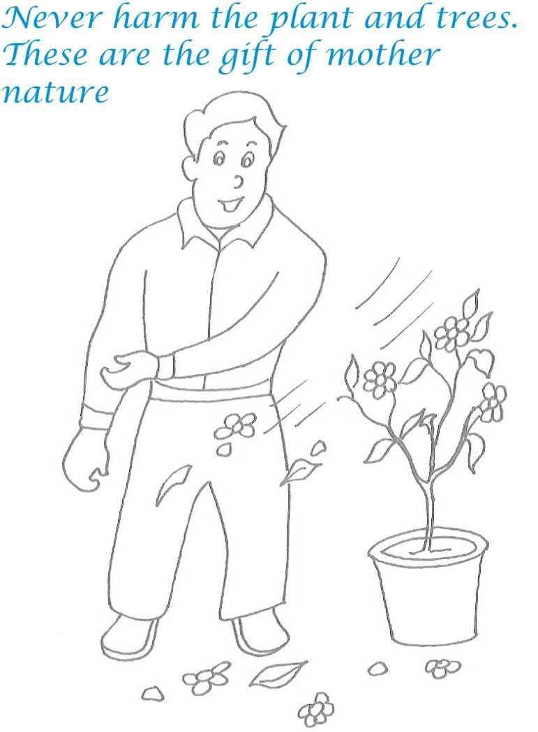 Etiquette For Kids In Home Coloring Page 7
