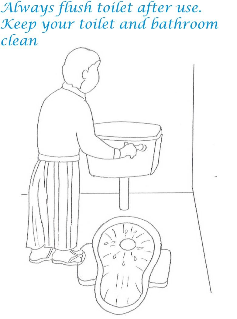 Etiquette for kids in home coloring page 27