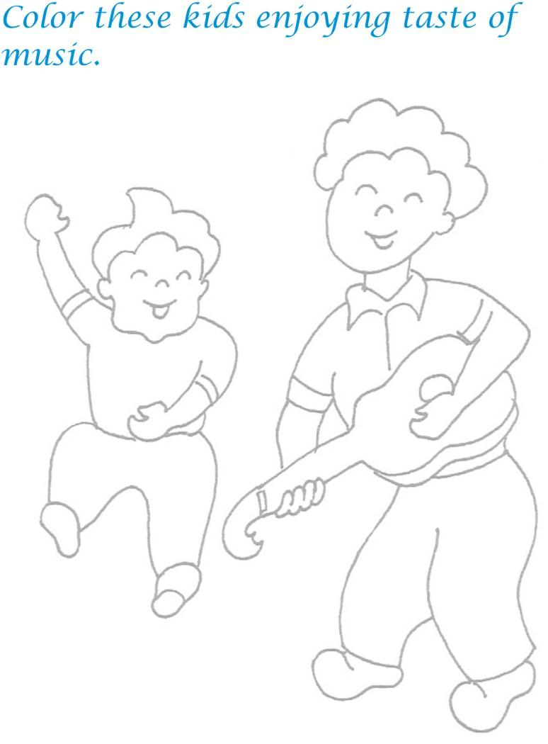 Childrens day printable coloring page for kids 22