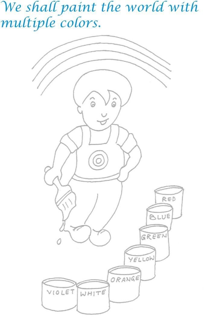 Childrens day printable coloring page for kids 18