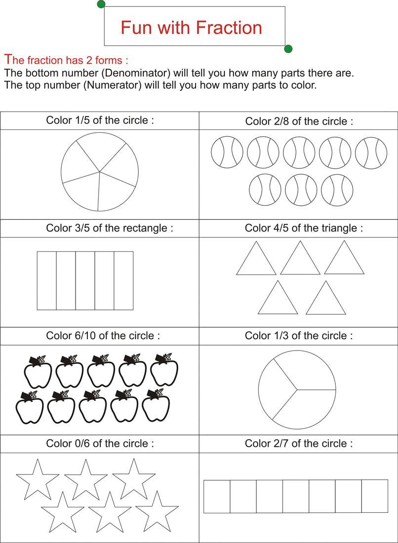 fraction is fun page 1. Black Bedroom Furniture Sets. Home Design Ideas