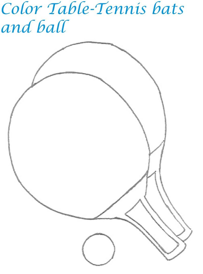 Sports goods coloring printable