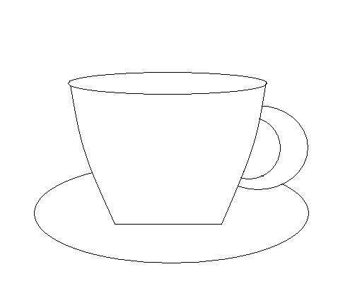 Шаблоны чашки для раскрашивания, открытки днем