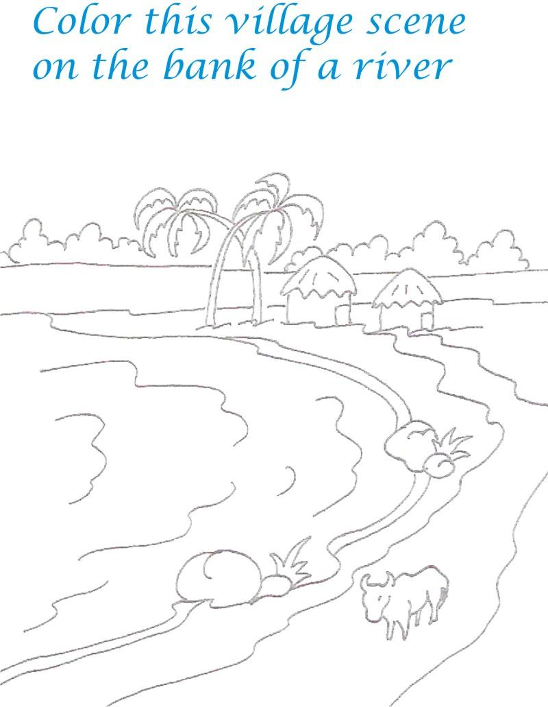 Beautiful Scenery Colouring Pages | Adult coloring pages, Coloring ... | 1031x800