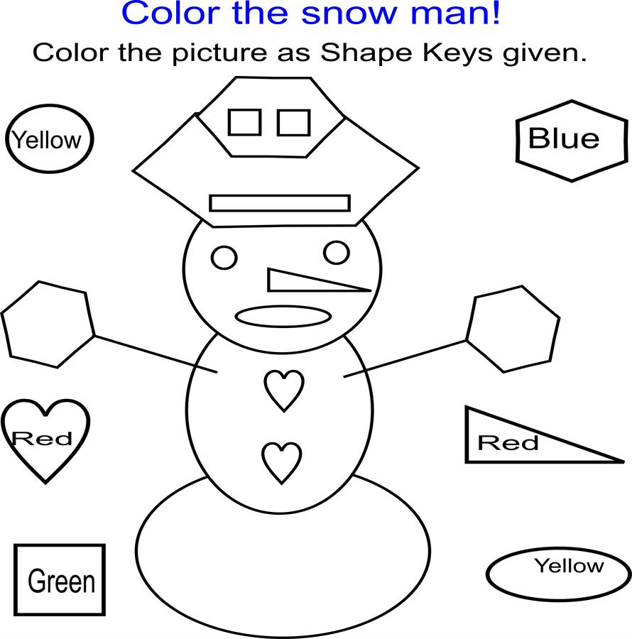 Color the snow man