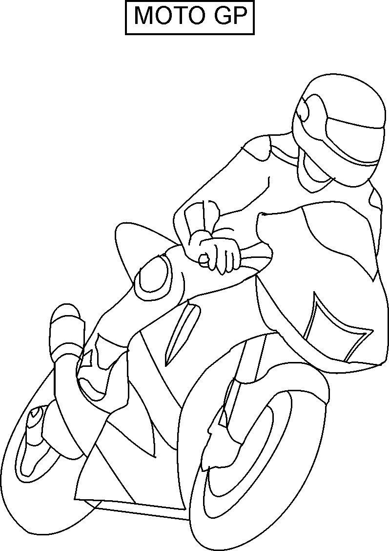 Moto GP coloring printable page for kids