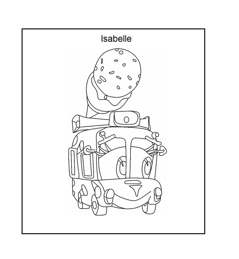 Isabelle ice cream coloring printable page for kids