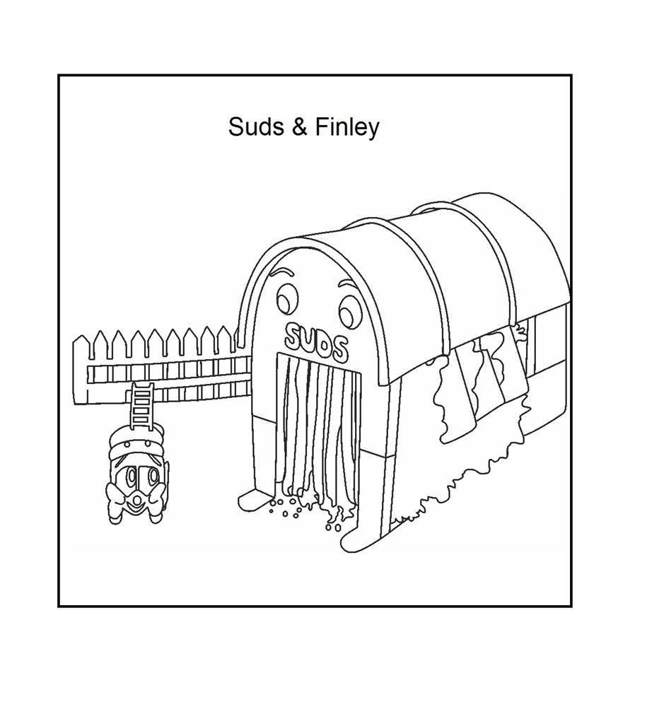 Finley & Suds coloring printable page for kids