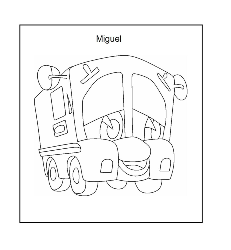 Mail truck coloring printable page for kids