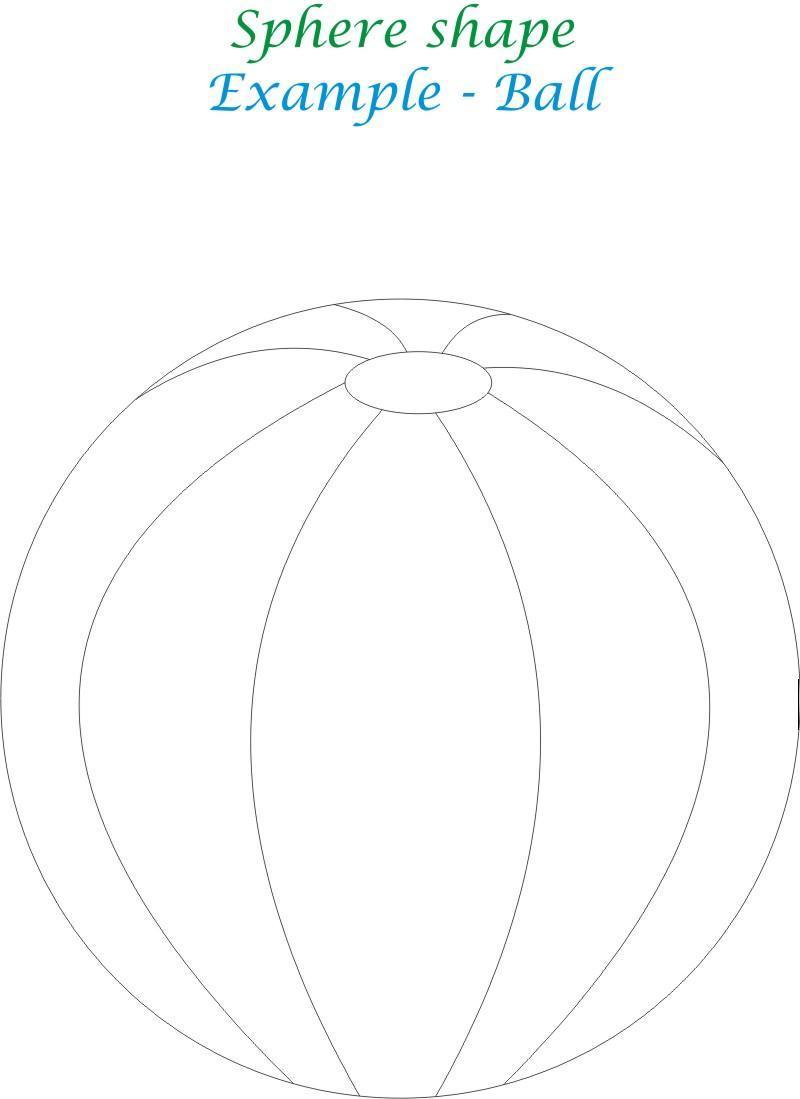 Sphere shape coloring printable