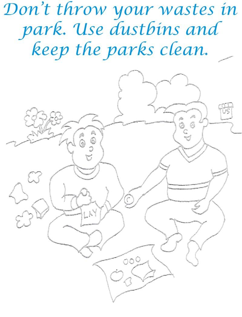 Save Parks Coloring Page
