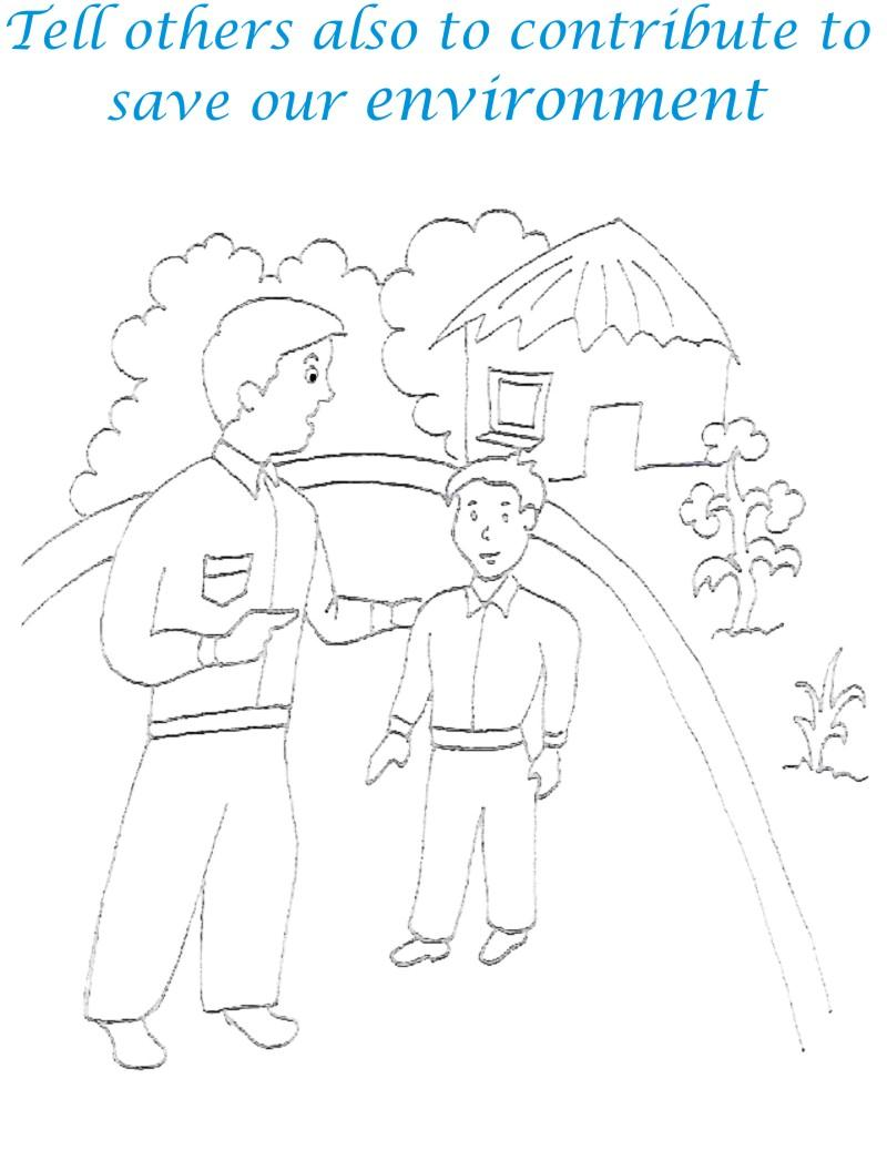Save Environment Advise Coloring Page