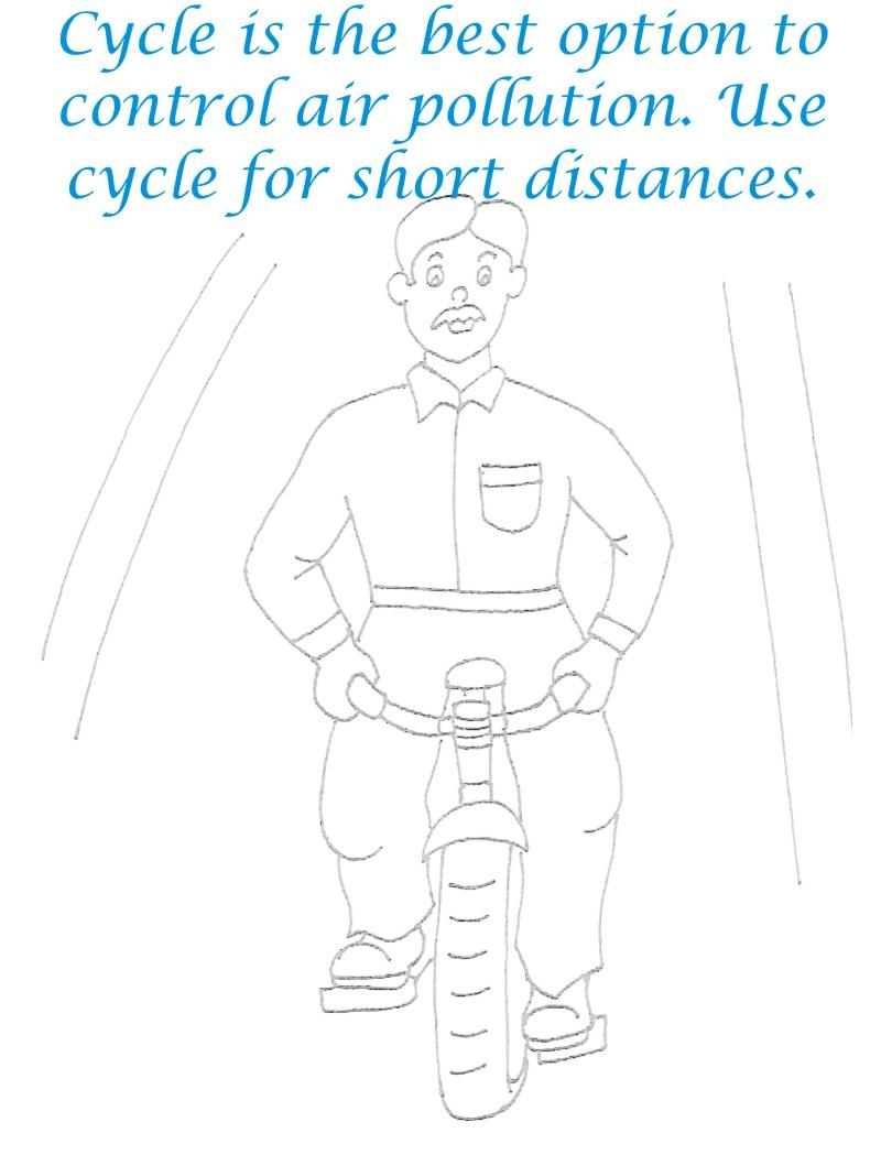 Use Cycle Save Environment Coloring Page
