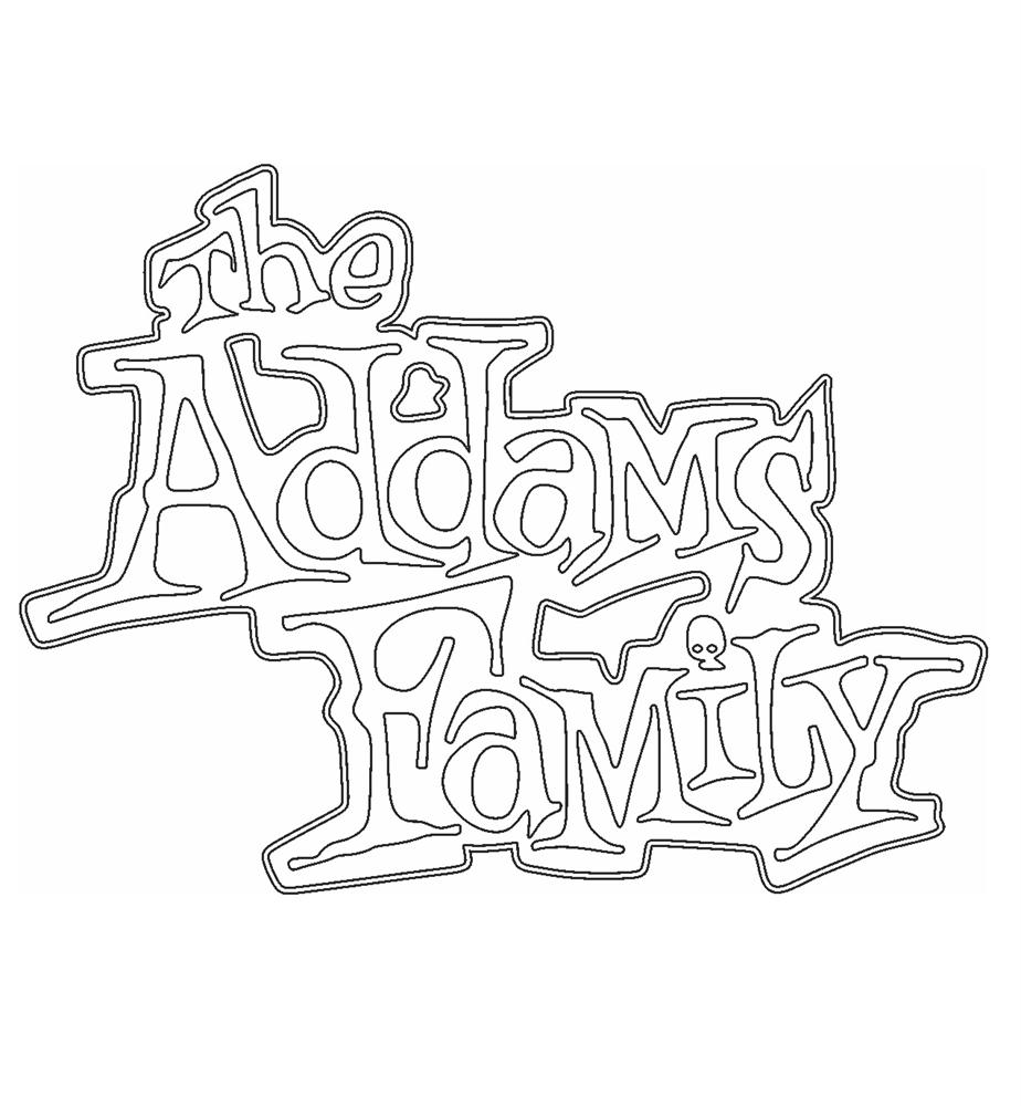 The Addams Family coloring pages - The Title
