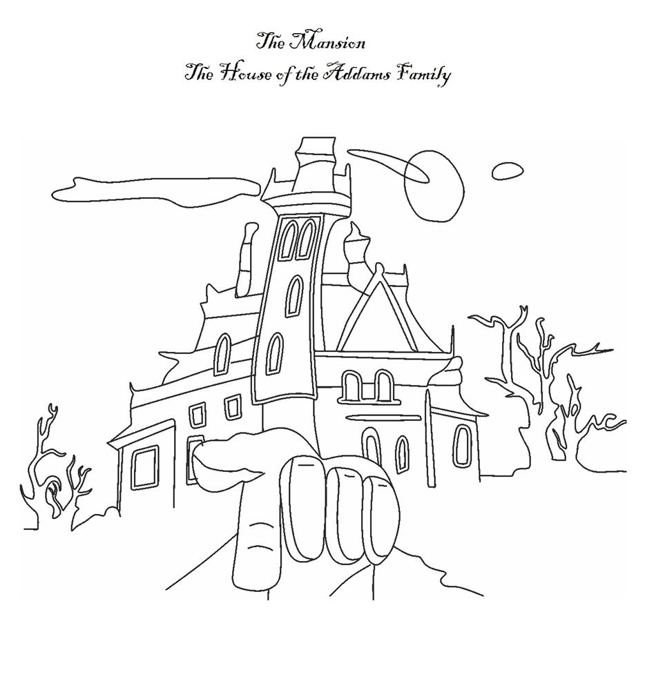 The Addams Family coloring pages - The Mansion (House of the Addams Family)