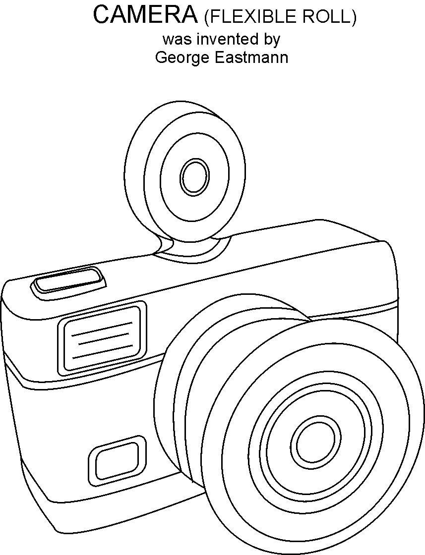 picture about Camera Printable called Digital camera coloring printable site