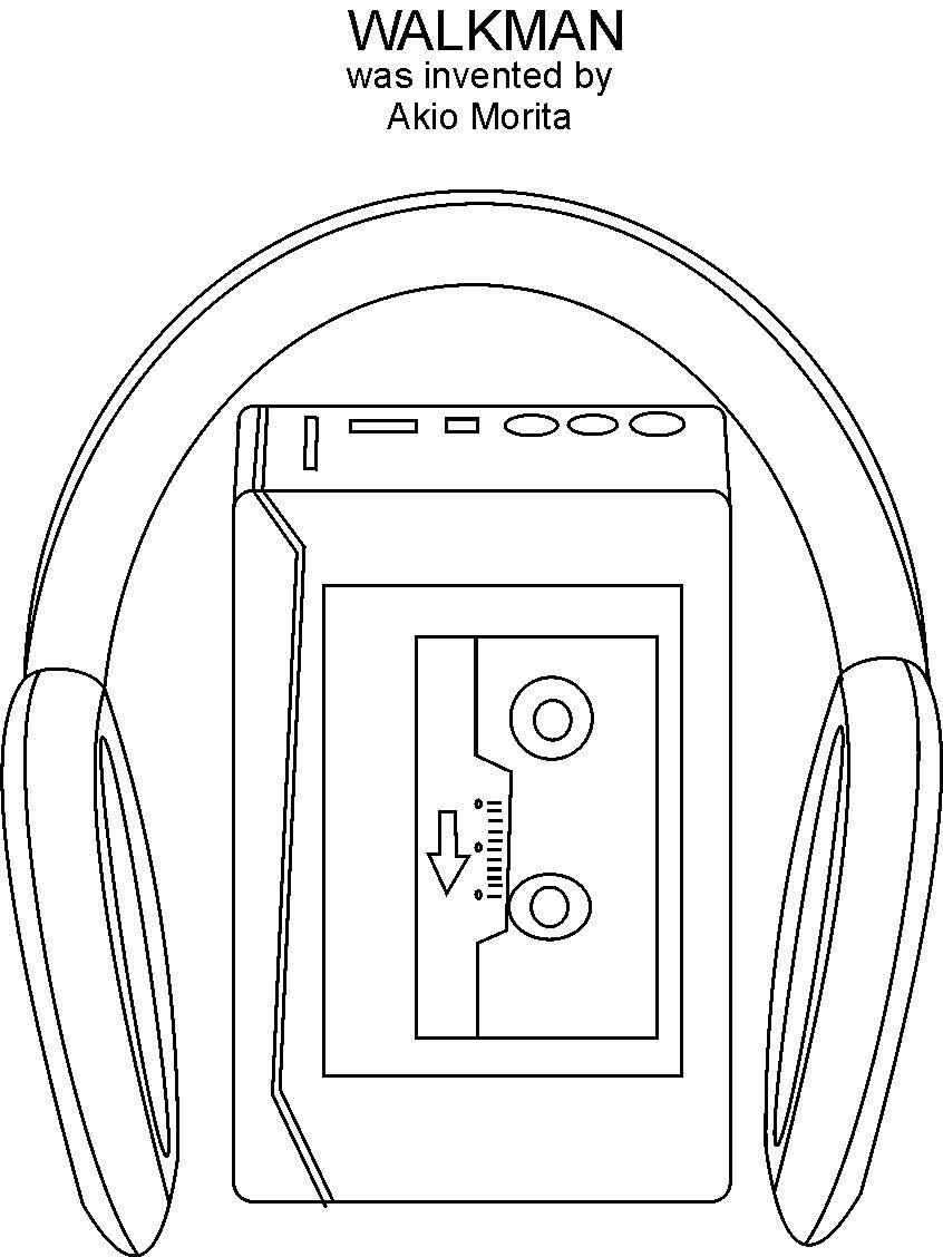 Walkman Coloring Printable Page